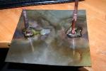 Крайняя пластина с выводами под газ и электролит