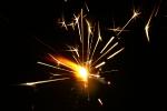 Сжигание стали водородным пламенем