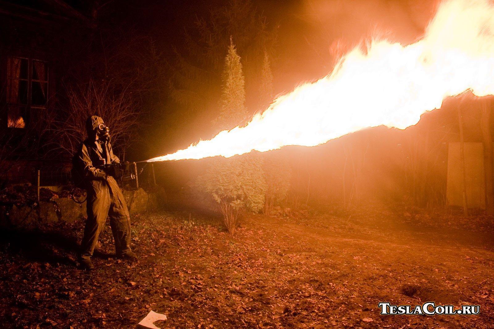 Как сделать ручной огнемёт