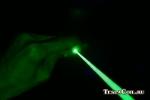 Луч зелёного лазера