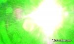 Отражённый луч зелёного лазера попал в камеру