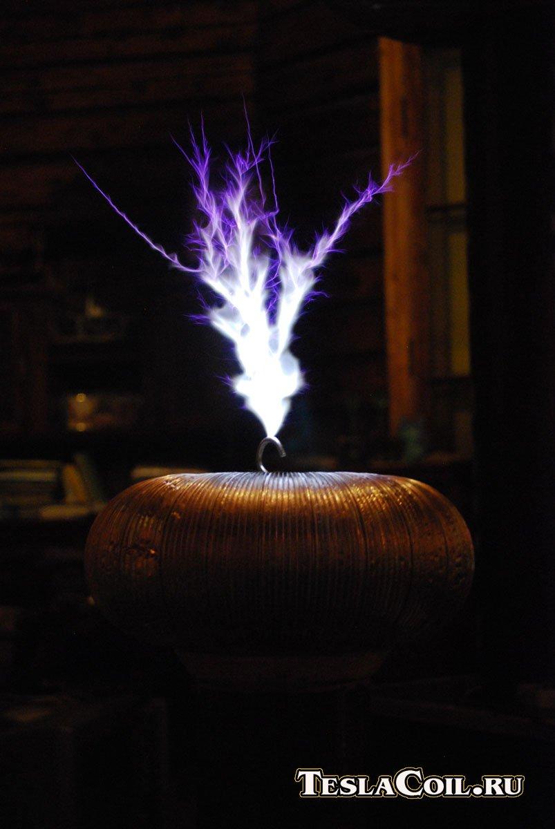 мощная схема качера на транзисторе с нагрузкой