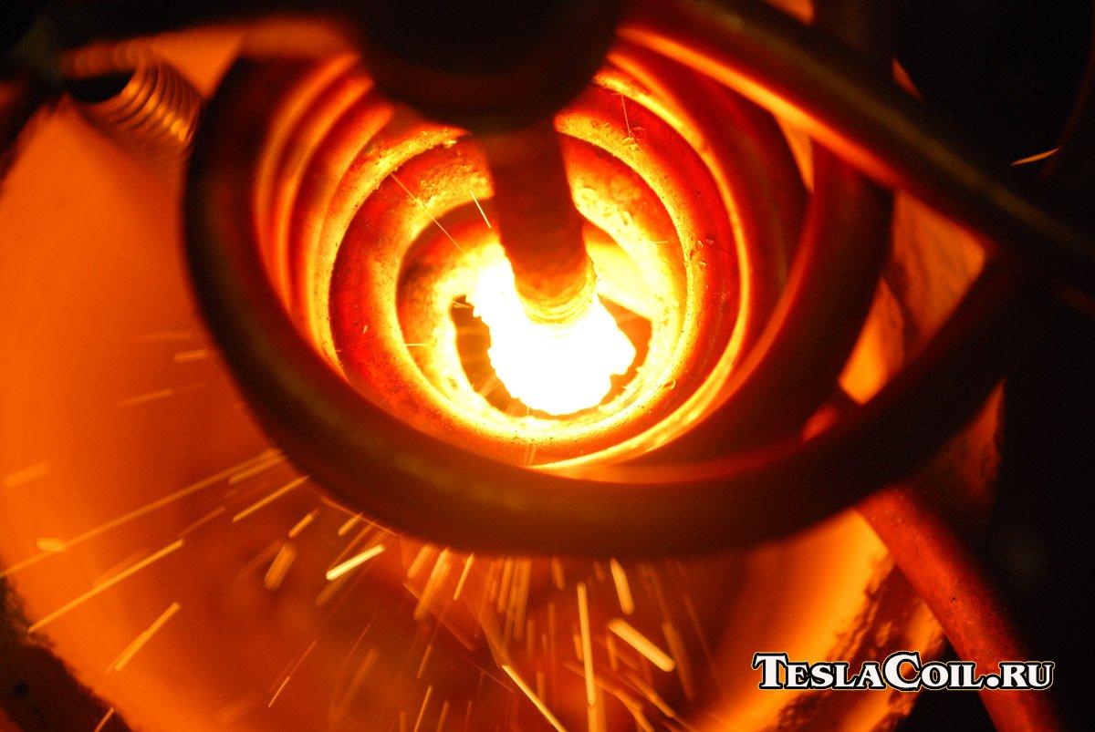 Индукционный нагреватель для закалки металла своими руками