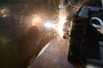 Испарение металла лазером