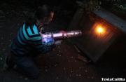 Лазерная пушка в работе