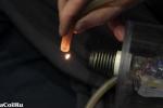 Горение фреона в фокусе CO2 лазера